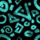 Turquoise on black background graphic royalty free illustration