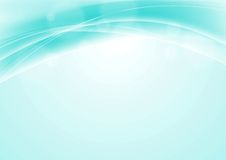 Turquoise blue abstract smooth wavy background Stock Photos