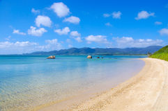 Turquoise blue beach Stock Photos