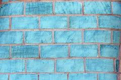 Turquoise blue brick background Royalty Free Stock Photos