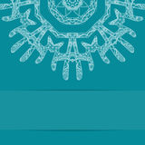 Turquoise blue card with ornate pattern Stock Photography