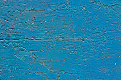 Turquoise blue cracked paint Stock Photography