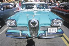 Turquoise blue 1958 Edsel Royalty Free Stock Images