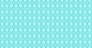 Turquoise blue green pattern with rhombuses and white dots stars. Solid elegant wedding backdrop. Element of design for party. Arabic traditional ornate stock illustration