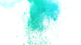 Turquoise and blue ink in water stock video