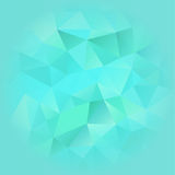 Turquoise Blue Poligonal Background. Turquoise Blue Poligonal  Background Blurred on the Edges. Vector EPS 10 Royalty Free Stock Photo