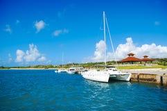 Turquoise blue port Royalty Free Stock Photo