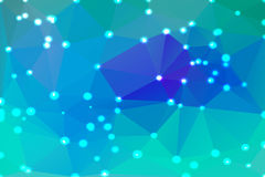 Turquoise blue purple geometric background with lights Stock Image