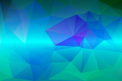 Turquoise blue purple low poly background royalty free illustration