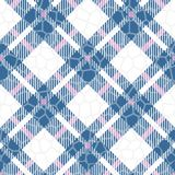 Turquoise blue, red and white color tartan seamless vector pattern. Checkered plaid texture. Geometrical simple square background. For fabric, textile, cloth vector illustration