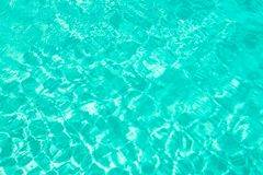 Turquoise blue ripped swimming pool water background summer concept Royalty Free Stock Photography