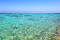 Turquoise blue sea water background Royalty Free Stock Photos