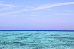 Turquoise blue sea water background Stock Image