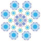 Turquoise blue snowflake Stock Image