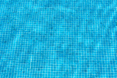 Turquoise blue swimming pool mosaic Stock Photos