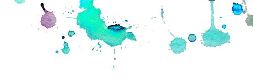 Turquoise blue watercolor splashes and blots on white background. Ink painting. Hand drawn illustration. Abstract watercolor. Artwork royalty free illustration