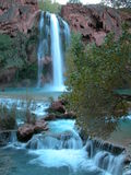 Turquoise Blue Waterfall Royalty Free Stock Photo