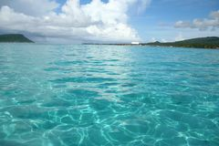 Turquoise blue waters Stock Image