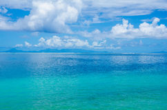 Turquoise and blue waters of the ocean in the tropics Stock Photography