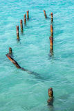 Turquoise blue waters Stock Photos