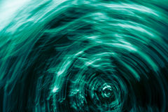 Turquoise blurry round shapes abstract background Stock Images