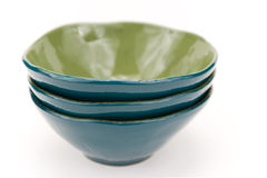 Turquoise bowls Royalty Free Stock Photography