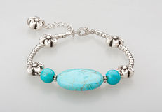 Turquoise bracelet isolated  Royalty Free Stock Photos