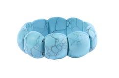 Turquoise bracelet. Image of turquoise bracelet, on white background stock photos