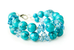 Turquoise bracelet Stock Images