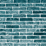 Turquoise Bricks Background Stock Image