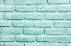 Turquoise bricks background. Modern trendy texture stock images