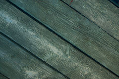 Turquoise bright colored old vintage wood Stock Images