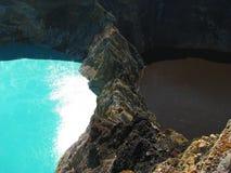 turquoise brune de lac Photo libre de droits