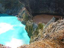 turquoise brune de lac Photographie stock libre de droits