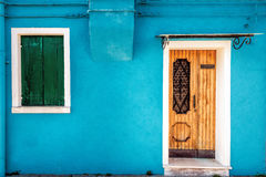 Turquoise Burano wall Royalty Free Stock Photos