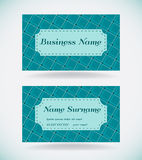 Turquoise business card Royalty Free Stock Photos