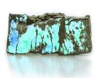 Turquoise. Calaite on white background Royalty Free Stock Images