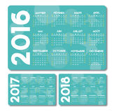 Turquoise calendar french Royalty Free Stock Image