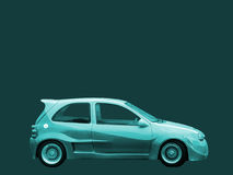 Turquoise car Stock Photography
