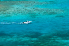 Turquoise caribbean waters Royalty Free Stock Image