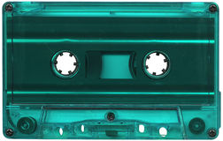 Turquoise cassette tape Stock Images