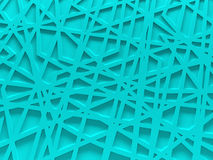 Turquoise chaos mesh background rendered Stock Images