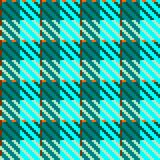 Turquoise check fabric Stock Image