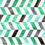 Turquoise chevron zig zag vintage paper seamless tileable pattern. Old retro blue and green paper textures for print, web, crafts Stock Image