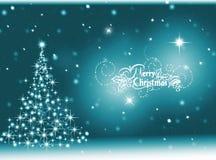 Turquoise Christmas background .New Year Background stock illustration