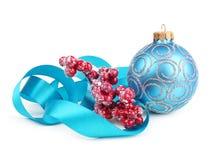Turquoise christmas ball Stock Image