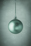 Turquoise Christmas Bauble with Snowflakes Royalty Free Stock Photo