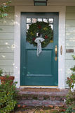 Turquoise Christmas Door Vertical Stock Photo