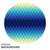 Turquoise circle of rhombuses isolated on white background. Royalty Free Stock Image