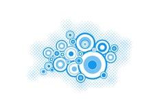 Turquoise circles. vector art Stock Photos